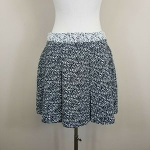 Banana Republic Pleated Black White Mini Skirt